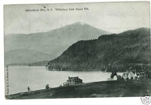 WHITEFACE MOUNTAIN NEW YORK LAKE PLACID POSTCARD 1909