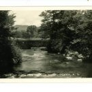 RPPC JACKSON NEW HAMPSHIRE WILD CAT RIVER POSTCARD