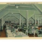 CEDAR POINT OHIO OH GREEN & SILVER DINING ROOM POSTCARD