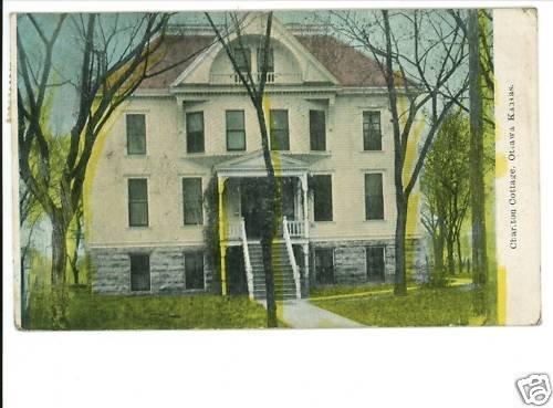 OTTAWA KS CHARLTON COTTAGE 1912 -JIM'S 10 CENT STORE-