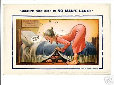 BAMFORTH  NO MAN'S LAND VINTAGE POSTCARD