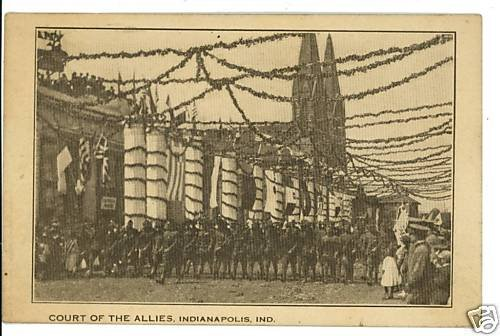 INDIANAPOLIS INDIANA IN COURT OF THE ALLIES  POSTCARD