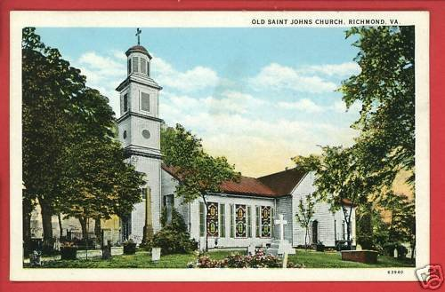 RICHMOND VA VIRGINIA OLD SAINT JOHN'S CHURCH  POSTCARD