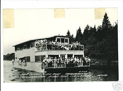 RPPC NEWBERRY MI MICHIGAN TAHQUAMENON RIVER BOAT