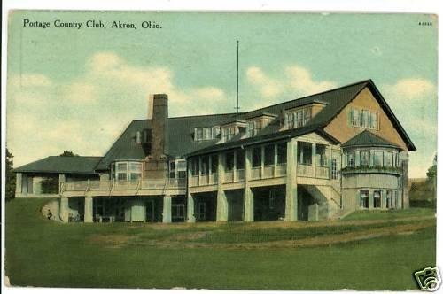 AKRON OHIO OH PORTAGE COUNTRY CLUB 1910 POSTCARD