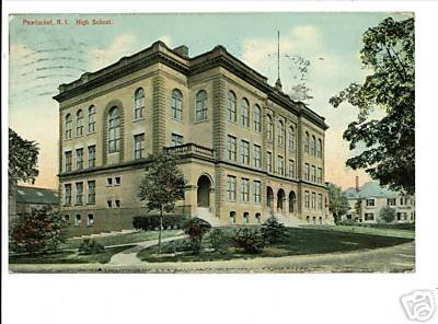 PAWTUCKET RHODE ISLAND RI 1910 HIGH SCHOOL POSTCARD