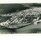 RPPC SEWARD AK AERIAL VIEW - SHIP -  JOHNSTON