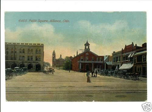 ALLIANCE OHIO PUBLIC SQUARE 1ST NATIONAL BANK  POSTCARD