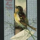 HAPPY NEW YEAR BIRD INTL ART 1908  POSTCARD