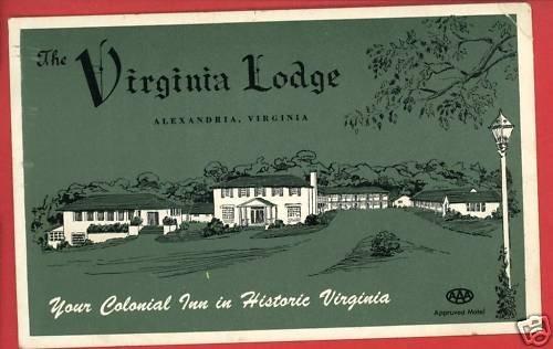 ALEXANDRIA VA VIRGINIA LODGE HOTEL COURT  POSTCARD