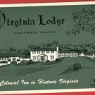ALEXANDRIA VA VIRGINIA LODGE HOTEL COURT  POSTCARD