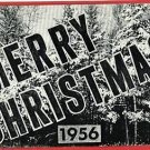 MERRY CHRISTMAS 1956 POSTCARD  YEAR DATE