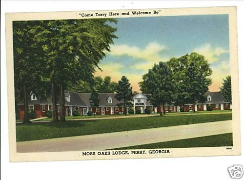 PERRY GEORGIA GA MOSS OAKS LODGE  POSTCARD