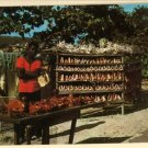 JAMAICA CONCH SHELLS CORAL CARVINGS VENDOR  POSTCARD