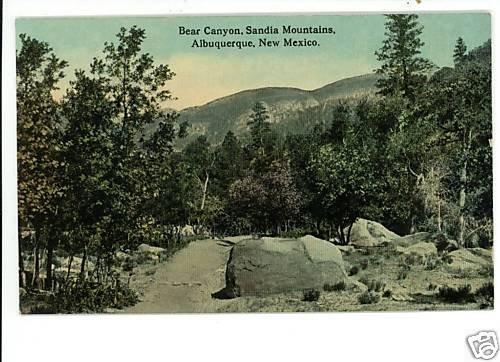 ALBUQUERQUE NEW MEXICO BEAR CANYON SANDIA MTNS POSTCARD