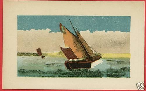 SAILBOATS  SAIL ON WATER ART SAILING   POSTCARD