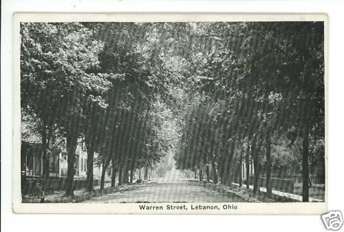 LEBANON OH OHIO WARREN STREET WENGER & CO  POSTCARD