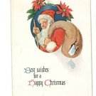 SANTA CLAUS CHRISTMAS TORN BAG POSTCARD 1915