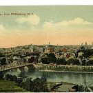 EASTON PENNSYLVANIA PA FROM PHILLIPSBURG NJ POSTCARD