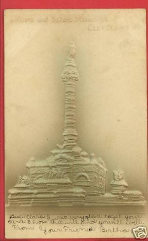 CLEVELAND OHIO OH SOLDIERS SAILORS MONUMENT  POSTCARD