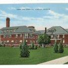 FINDLAY OHIO OH  HOSPITAL AND HOME POSTCARD