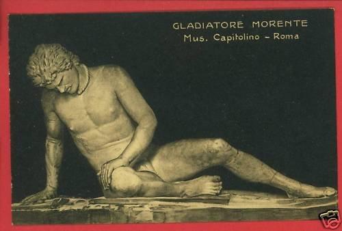 GLADIATORE STATUE ROMA MUSEE MUSEUM CAPITOLINO POSTCARD