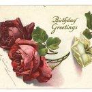 C KLEIN BIRTHDAY ROSES ARTIST SIGNED 1917 POSTCARD
