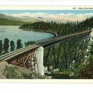 LAKE CHATCOLET IDAHO ID RAILROAD BRIDGE 1939 POSTCARD