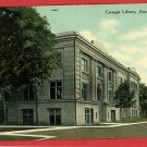 ANN ARBOR MICHIGAN CARNEGIE LIBRARY 1910 POSTCARD