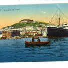 NAPOLI ITALY PANORAMA  DAL MARE STEAMSHIP POSTCARD