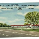 NORTH KINGSVILLE OHIO OH TALLY HO MOTEL 1956 POSTCARD