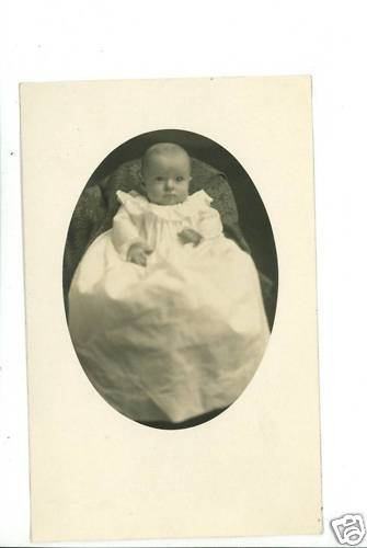 RPPC CHARLES PRINCE ANDERSON CHRISTENING GOWN RPPC