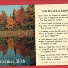 CHRISTMAS MI MICHIGAN GOD SPILLED A RAINBOW  POSTCARD