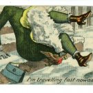 WOMAN SLIPPING ON STEPS INSTALLMENT  1910  POSTCARD