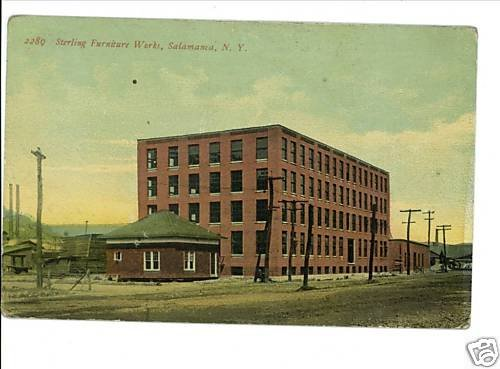 SALAMANCA NY STERLING FURNITURE WORKS NEW YORK POSTCARD