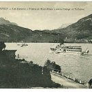 LAC D'ANNECY FRANCE BOAT SHIP LAKE   POSTCARD