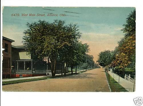 ALLIANCE OHIO OH  MAIN STREET 1912 POSTCARD