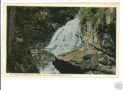 LAKE WINNEPESAUKEE NH NEW HAMPSHIRE VEIL FALLS POSTCARD