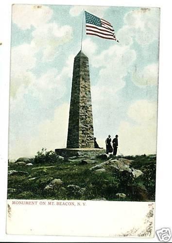 MT BEACON NEW YORK MONUMENT UNDIVIDED BACK POSCARD