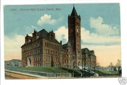 DULUTH MN MINNESOTA CENTRAL HIGH SCHOOL 1912 POSTCARD