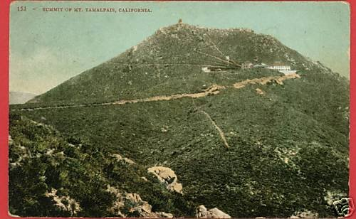 MT TAMALPAIS CALIFORNIA  SUMMIT VINTAGE POSTCARD