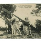 CALVARY CHRIST WITH CROSS FRENCH CALVAIRE  POSTCARD
