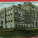 FREMONT OHIO HIGH SCHOOL 1910  POSTCARD
