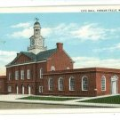 FERGUS FALLS MN MINNESOTA CITY HALL 1936  POSTCARD