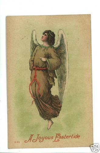 EASTER ANGEL 1910 JOYOUS EASTERTIDE  POSTCARD