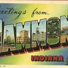 HAMMOND INDIANA GREETINGS FROM 1941 POSTCARD