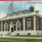 MICHIGAN CITY INDIANA POST OFFICE 1919 LEUSCH  POSTCARD
