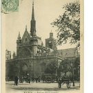 Paris FRANCE Eglise St-Laurent '01 PRIVATE MAILING CARD