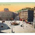 NAPOLI ITALY PIAZZA DELLA BORSA STREET CARS   POSTCARD