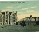 WINFIELD KANSAS KS SW COLLEGE RICHARDSON HALL POSTCARD
